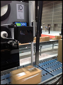 Labeling System for Automatic Logistics Systems