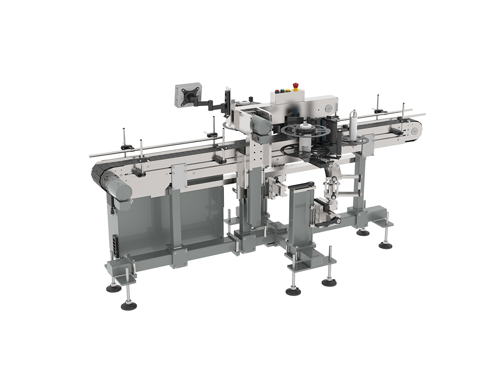 9150 series labeling system label heads includes multi axis head