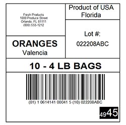 Labels for Product Traceability Initiative