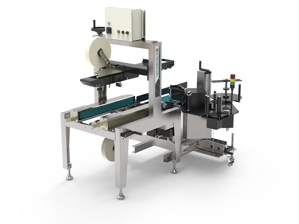Case Taper Label Printer Applicator Id Technology Model 252 Ctl