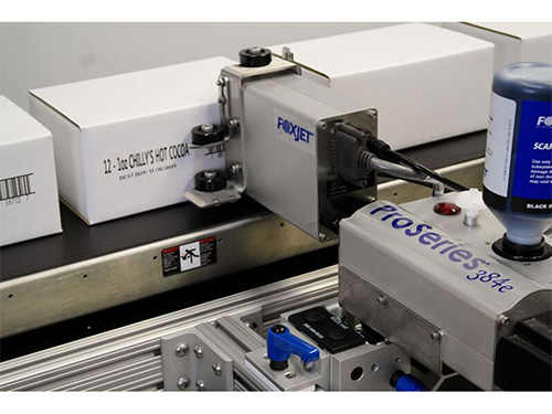High Resolution Text Barcode And Graphic Marking - FoxJet ProSeries - High Resolution Inkjet Marking