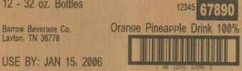 Industrial inkjet printer example on cardboard box